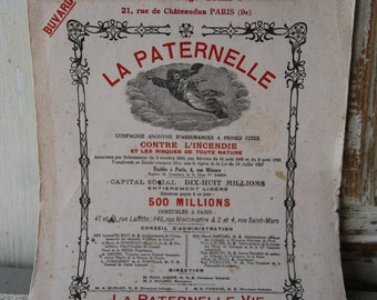 French advertisement on linen paper - La Paternelle