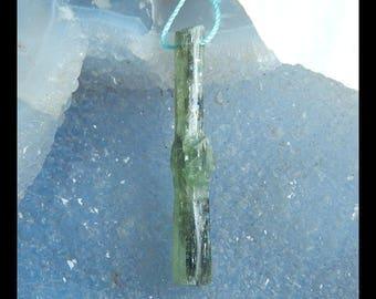 Nugget Green Kyanite Gemstone Pendant Bead,47x8x7mm,5.14g(e0288)