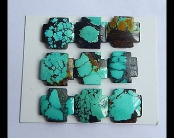 SALE,6 PCS Turquoise Gemstone Cabochons,16x5mm,15x5mm,16.55g