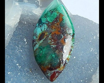 Chrysocolla Gemstone Cabochon,60x30x6mm,15.2g