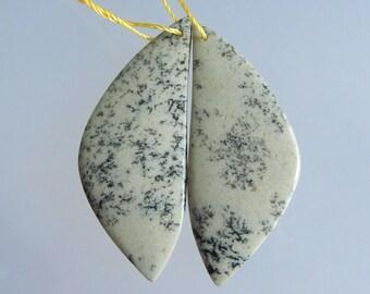 Fashion Natural gemstone Bead Tree seeding Earring pairs Jewelry Gift Gem Customized Gemstone Beads Fashion Earrings 43*18*4mm 8.1g