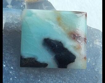 Amazonite Gemstone RectangularCabochon,40x35x5mm,15g