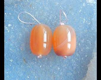 SALE,Agate Gemstone Earring Bead,18x13mm,11.2g-E6733