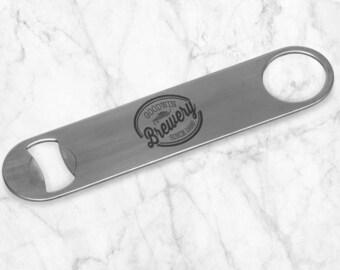 Brewery Personalized Metal Bottle Opener, Engraved Openers, Custom Groomsman Gift Bridesmaid