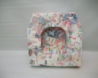Handmade Paper Mache Shadow Box, Mix Miedia Supply, Mix Media Collage Supplies, Box To Decorate, Large Box For Mix Media Art, Canvas Art