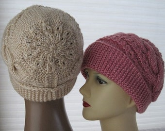 Knit Pattern-No5-  for adult ( beautiful hat)