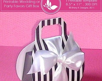 40% off Printable wedding or party favors gift box ////// 001