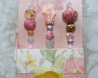 Decorative Pins, Pink Scrapbook, Embellishment, Beaded Pins, Stick Pins, Cardmaking, Wedding