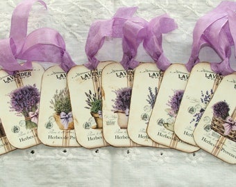 Tags Lavender Vintage Shabby Rustic Gift French Country Wedding Favors Scrapbook