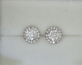 Irresistible  DIAMOND STUDS~High Quality (G VS1) in 18k White gold