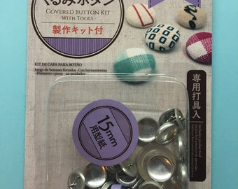 15 mm Fabric Covered Button Starter Kit