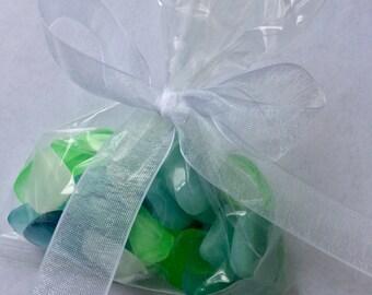 Sea Glass Soap, One 1.5 oz. Bag Realistic Original Handmade Soap Pieces, Weddings, Party Favors, Hostess Gift, CUSTOM ORDERS WELCOME