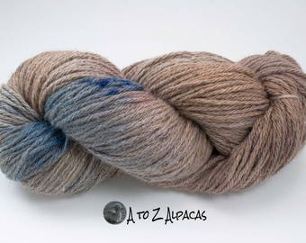 Royal Baby Alpaca Yarn Bulky Weight Hand Dyed Alpaca Yarn OOAK #24