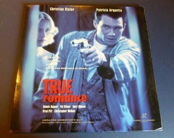 True Romance Christian Slater Laser Disc 1993