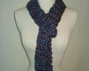 Handmade Crochet Long Scarf in a beautiful color mix