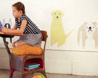 GINGIBER DOGS Eco-Friendly Reusable Fabric Wall Decals by Pop & Lolli