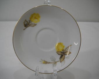 Cotillion by Japan Tea Cup saucer Plates Yellow Rose