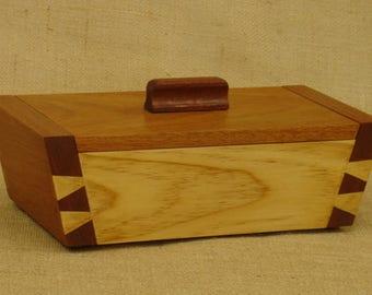 Dovetailed Box, 15 Degree Series  Mahogany & Pine