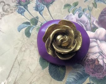 Open rose flexible silicone mold