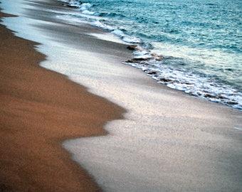 Maui Beach Photo Card, surf, sand.