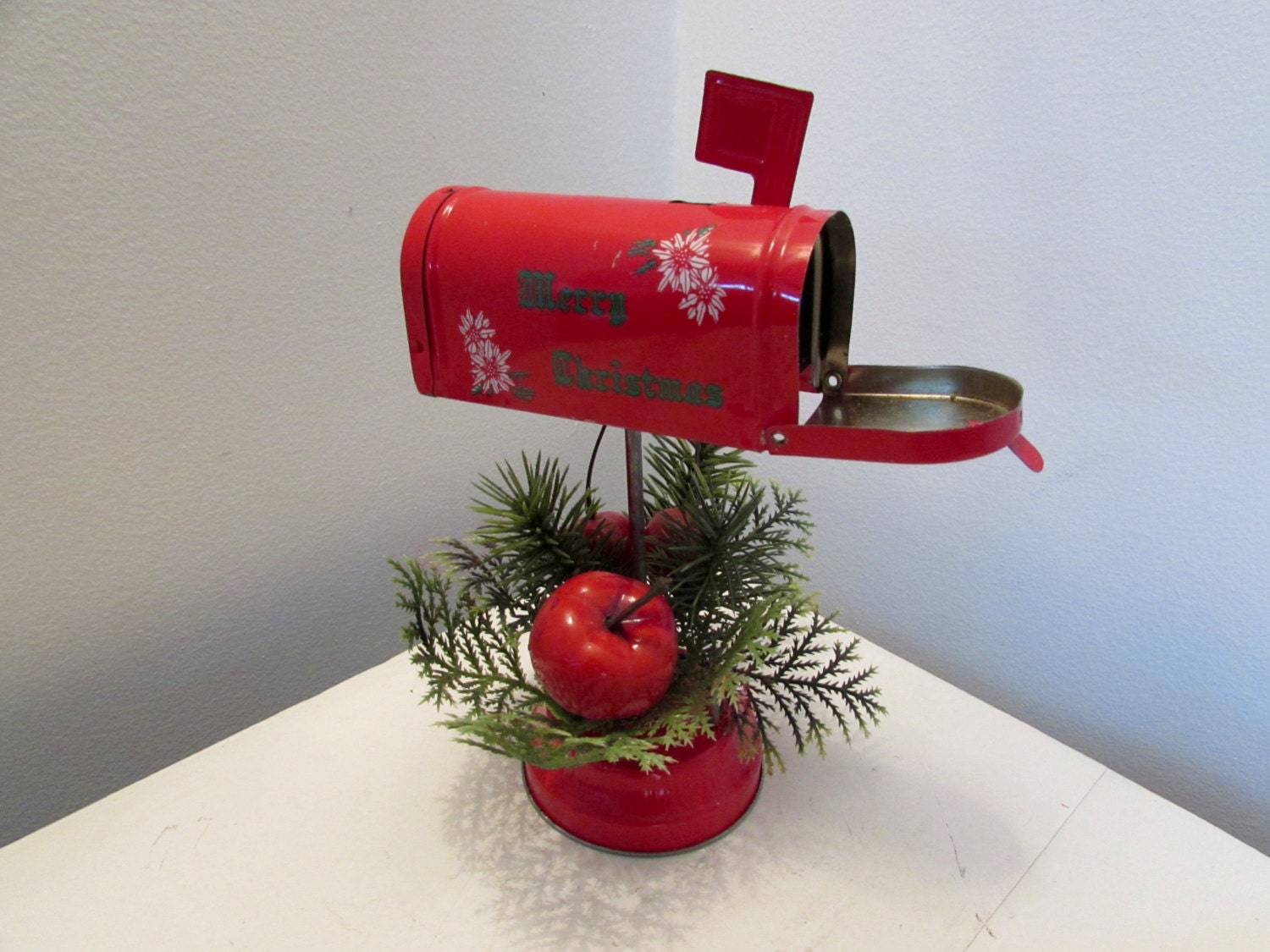 Holiday Tin Mailbox Decoration By Magpiesfancyshop On Etsy