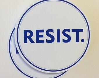 resist vinyl bumper sticker | anti trump resistance sticker