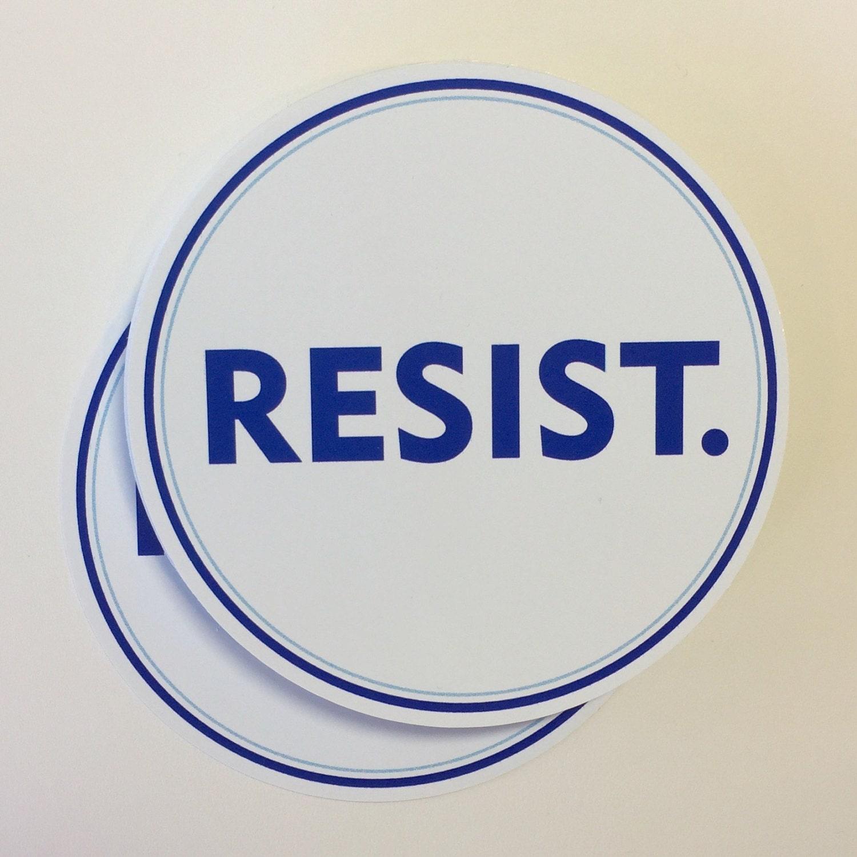 Bumper sticker creator canada - Resist Vinyl Bumper Sticker Anti Trump Resistance Sticker