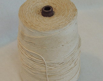 Vintage White Cotton String Large Spool General Store Holder Collectible