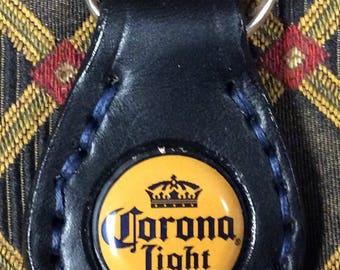 Corona bottle cap key ring