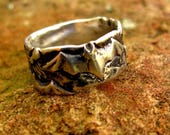 Special order for Dave Bat and Spider Ring in Sterling Silver Size 8.5 Eco-Friendly