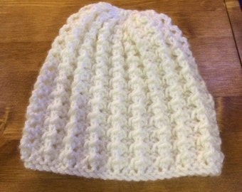 Baby / Infant White Lacy Hat