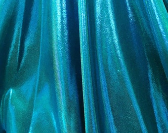 4-Way Stretch Mystique Metallic Spandex Fabric - Turquoise