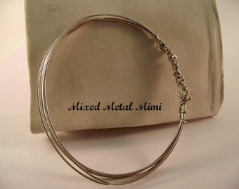 NEW Sterling Silver Bangle Bracelet , Sterling Silver Wire Bracelet/ Small Bangle  Bracelet/ Copper / bracelet- B-003