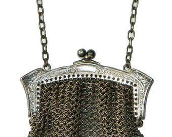 Antique Mesh Handbag Art Nouveau