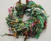 Handspun art yarn Teeswater  locks and more , 5.8 oz, 32 yards