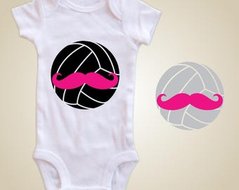 Volleyball Baby one piece - Volleyball Mustache