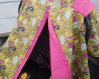 Carseat Canopy Paisley Last One READY TO SHIP