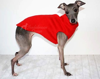 Made to order - Simple Sleeveless Italian Greyhound Sweater ( measurements essential)  - Various Colours - IMPORTANT - see item details