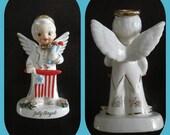 July Angel Napco 1956 Patriotic Figurine Statue Collectible