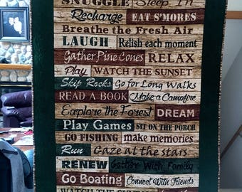 Cabin Rules Wallhanging