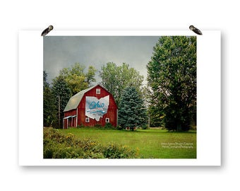 Ohio Bicentennial Barn, Fine Art Photography, Barn Photography, Old Barns, Ohio Photography, Rural Ohio, Rural Photography, Red Barn