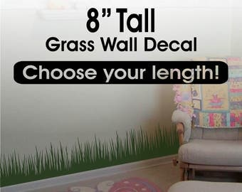 Grass Wall Decal Border  Tall X  Long - Vinyl wall decals borders