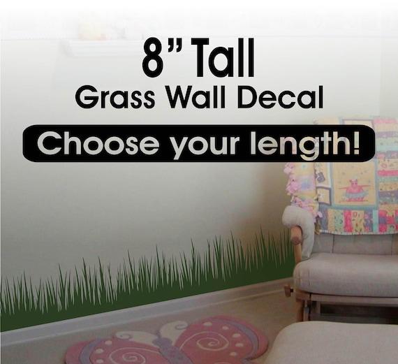 Grass Wall Decor Grass Wall Decal Border Grass Border - Vinyl wall decals borders