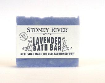 lavender  Natural Soap, Handmade Soap,  Cold Process Soap, Oily Skin Soap, Vegan Soap, cold process soap bar