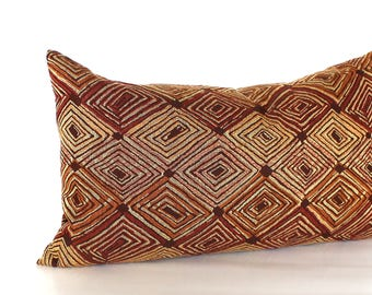 Lumbar Pillow Cover Rust Pillow Cover Southwest Upholstery Fabric Decorative Pillow Throw Pillow Cover 12x24 12x21 12x18 12x16 10x20