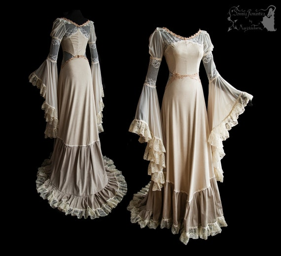 RESERVED Wedding Gown Art Nouveau Fantasy Somnia Romantica