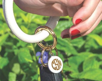 GRADUATION GIFT, Key Ring Bracelet, Key Rings Monogrammed, Wristlet Monogrammed Key Chain, Monogrammed Key Chain, Monogrammed Key Fob
