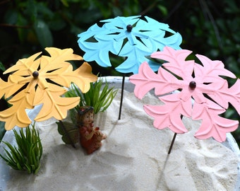 """Beach Umbrella Only ~ Miniature Lacy Umbrella ~ More Color Choices at checkout ~ 1 Painted Umbrella per quantity ~ Approximately 6"""" High"""