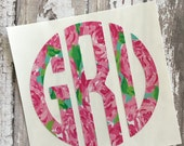 Print Monogram - Lilly Inspired - Free Shipping