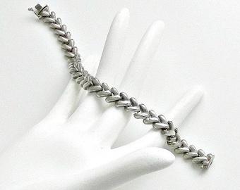 Italian Silver Chain Link Bracelet, Vintage Silver Chain Bracelet, Sterling Silver, Made in Italy.